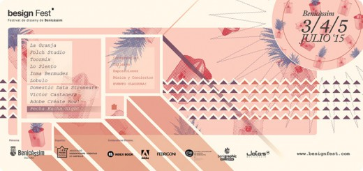 Póster apaisado festival de diseño de Benicassim - julio 2015.